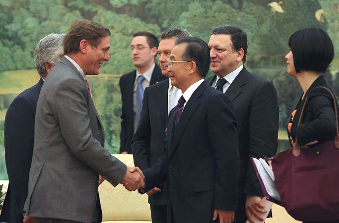 Premier Wen Jiabao Meets with European business delegation